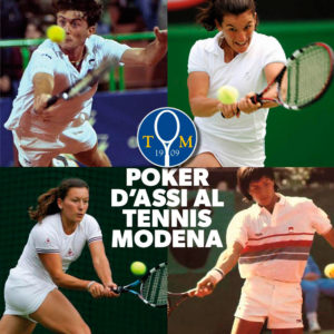 Locandina poker d'assi al Modena tennis